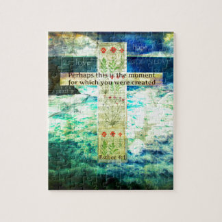 Uplifting Inspirational Bible Verse About Life Jigsaw Puzzle