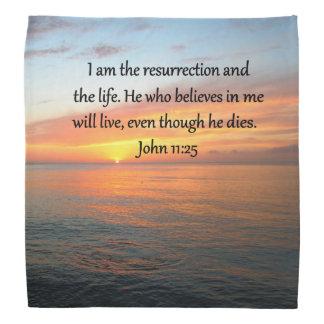 UPLIFTING JOHN 11:25 PHOTO BANDANA
