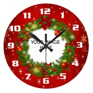 Upload a Photo Create your own Custom Christmas Wallclocks