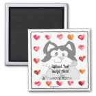Upload Image Cartoon Hearts Personalised Magnets