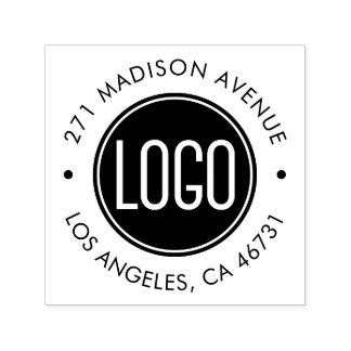Upload Your Logo and Company Address Self-inking Stamp