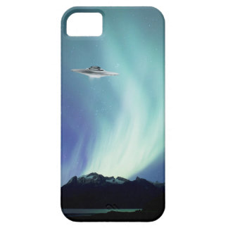 UPO spaceship with northern lights Case For The iPhone 5