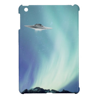 UPO spaceship with northern lights iPad Mini Cases