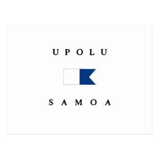 Upolu Samoa Alpha Dive Flag Post Cards
