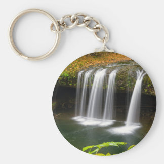 Upper Butte Creek Falls in Autumn Key Ring