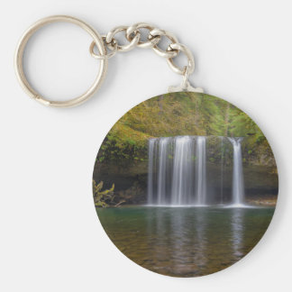 Upper Butte Creek Falls in Fall Season Key Ring