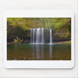 Upper Butte Creek Falls in Fall Season Mouse Pad
