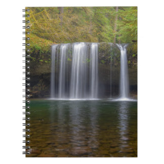 Upper Butte Creek Falls in Fall Season Spiral Notebook