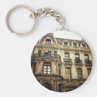 Upper East Side Building, New York City. Basic Round Button Key Ring