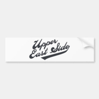 Upper East Side Car Bumper Sticker