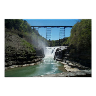 Upper Falls at Letchworth Poster