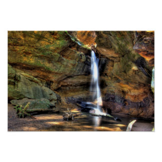 Upper Falls, Conkle's Hollow, Ohio Poster
