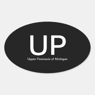 Upper Peninsula of Michigan UP Oval Bumper Sticker