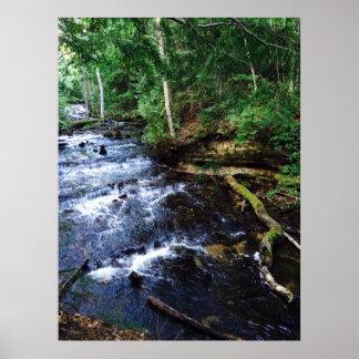 Upper Peninsula Waterfall Poster