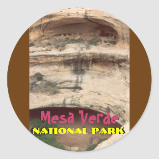 Upper Rock Dwelling at Mesa Verde Classic Round Sticker
