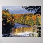 Upper Tahquamenon Falls in UP Michigan in autumn Poster