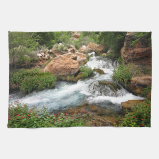 Upper Tapeats Creek Waterfall - Grand Canyon Tea Towel
