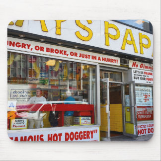 Upper West Side Hot Dog Shop New York City NYC Mouse Pad
