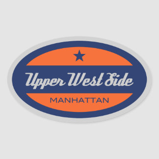 Upper West Side Oval Sticker