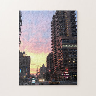 Upper West Side Sunset NYC New York Photo Puzzle