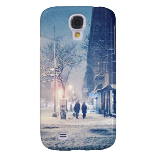 Upper West Side Winter Night Galaxy S4 Cases