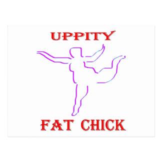 Uppity Fat Chick Postcard