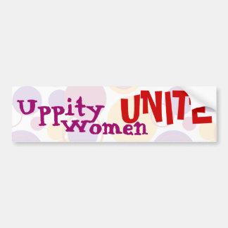 Uppity Women Unite - Bumper Sticker 2