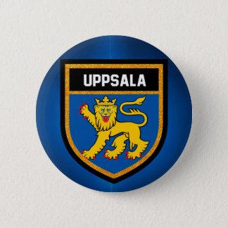Uppsala Flag 6 Cm Round Badge