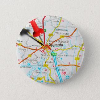 Uppsala (Upsala) in Sweden 6 Cm Round Badge