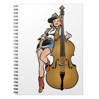 Upright Bass girl notebook