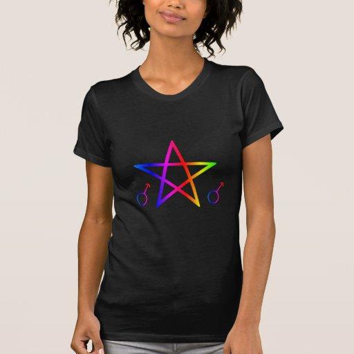Upright Male Rainbow Pentagram Shirt