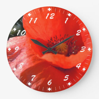 Upright Poppy Large Clock