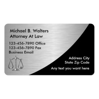 Upscale Attorney business cards