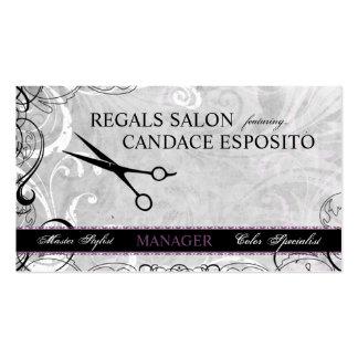 Upscale Swirls and Fluers Salon Business Card