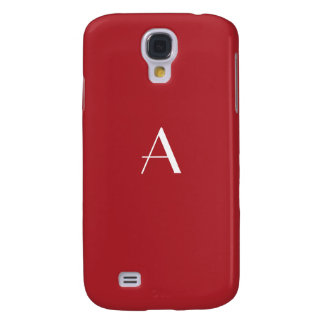 Upsdell Red w/White Monogram Samsung Galaxy S4 Covers