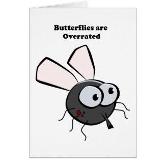 Upset Mosquito Cartoon Greeting Card