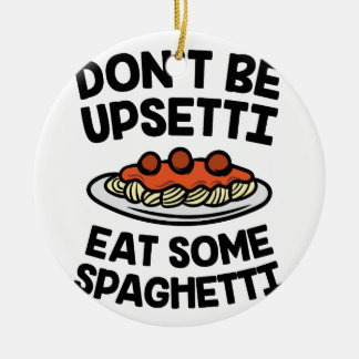 Upsetti Spaghetti Ceramic Ornament