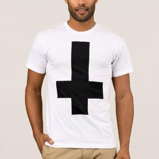 Upside Down Black Cross T-Shirt