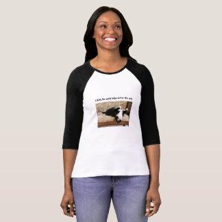 Upside Down Cat on Loveseat T-Shirt