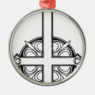 Upside Down Cross Pattern Metal Ornament