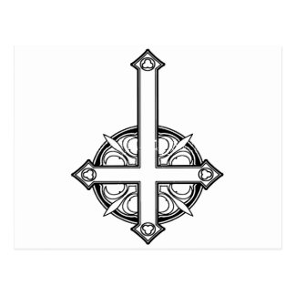 Upside Down Cross Pattern Postcard