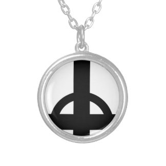 Upside Down Cross Silver Plated Necklace