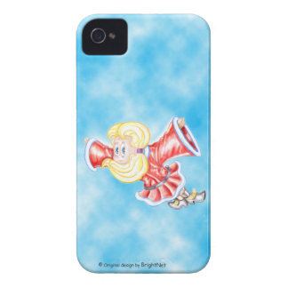 Upside-down girl flying in the sky Case-Mate iPhone 4 cases