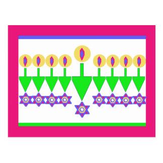 Upside Down Hanukkah Christmas Card Postcard