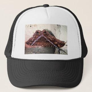 Upside down moth trucker hat