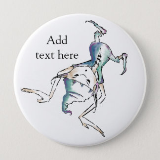 Upside down Pixie / Goblin Button add own text