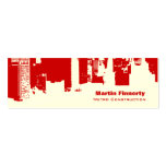 Upside Downtown Horizontal Skinny Pack Of Skinny Business Cards