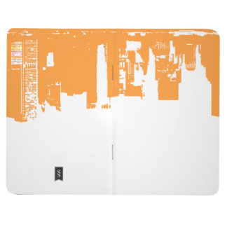 Upside Downtown - Vivid Orange Journal