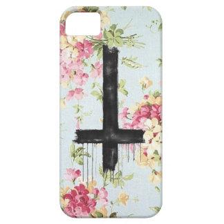 Upsidedown Cross Floral IPhone Case