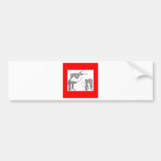 upsidedown shoot bumper stickers
